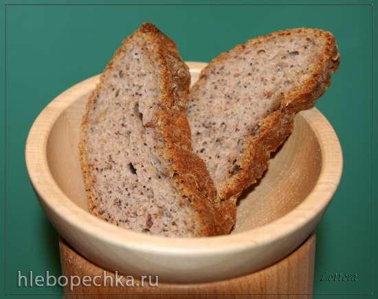 Хлеб Грильяж с хлопьями, орехами и семечками (5 вариантов)