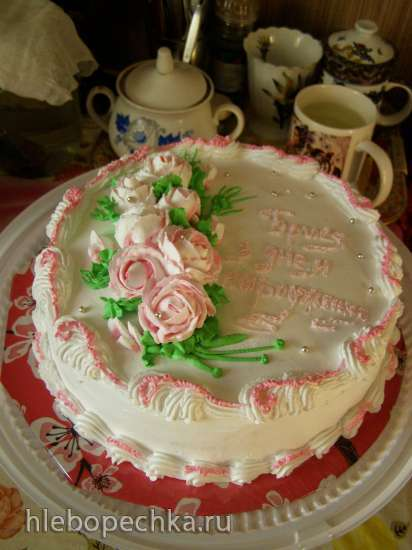 Торты, украшенные кремом (2)