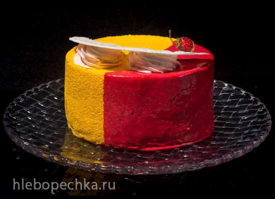 """Евро-торт """"Вишня в сердце"""""""