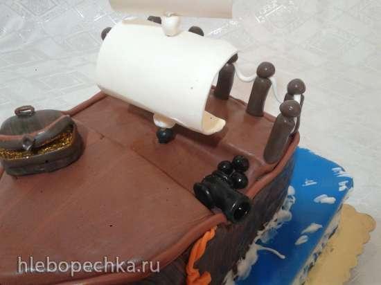 Сундук с сокровищами для торта