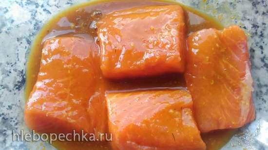 Розовая форель в медово-соевом соусе