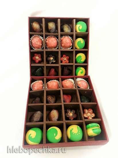 Цветные шоколадные конфеты дома