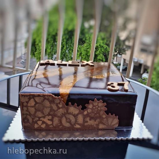 Зеркальная глазурь на какао порошке