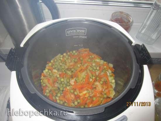 Говядина тушеная с горчицей и имбирем с овощами в мультиварке Oursson MP5005PSD