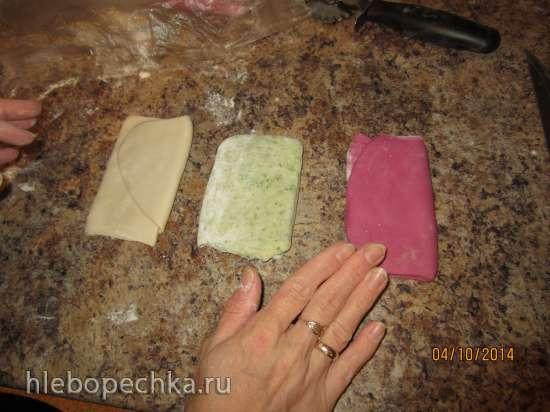 Вареники (пельмени, равиоли, лапша) из цветного теста (мастер-класс)