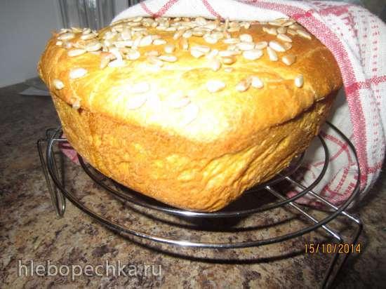 Хлеб тыквенный на отваре с семечками в духовке