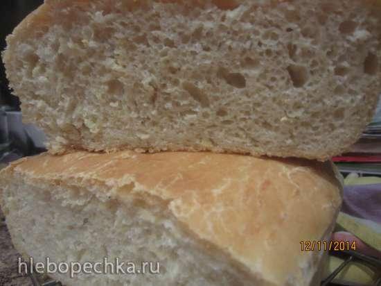 Кабачковый пшеничный хлеб на холодном тесте (духовка)