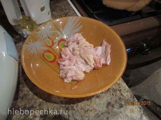 Чипсы из жареной куриной шкурки (закуска к пиву)