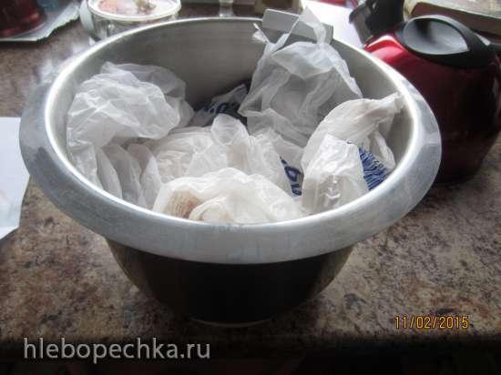 Тесто из сыворотки с содой (а-ля дрожжевое). Рулет с заливкой из сыворотки