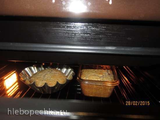 Кекс на рассоле с малиновым вареньем (постный)