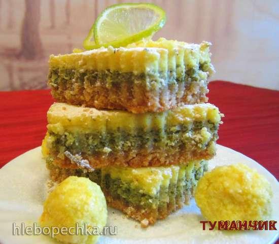 Пирожные с мятой и цитрусовыми