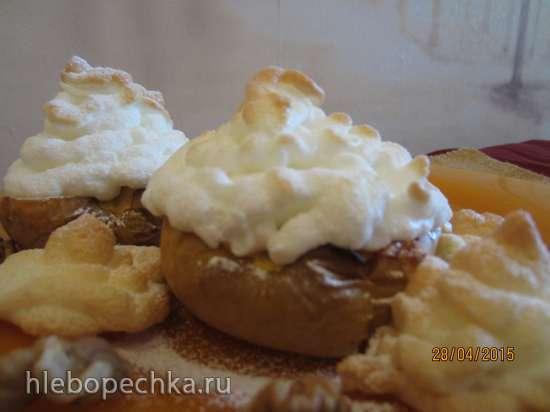Печеные яблоки с меренгой - летняя еда для детей
