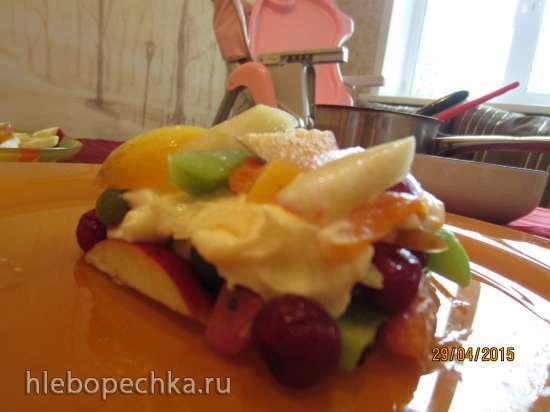 Десерт из фруктов и ягод Домик строим вместе - летняя еда для детей