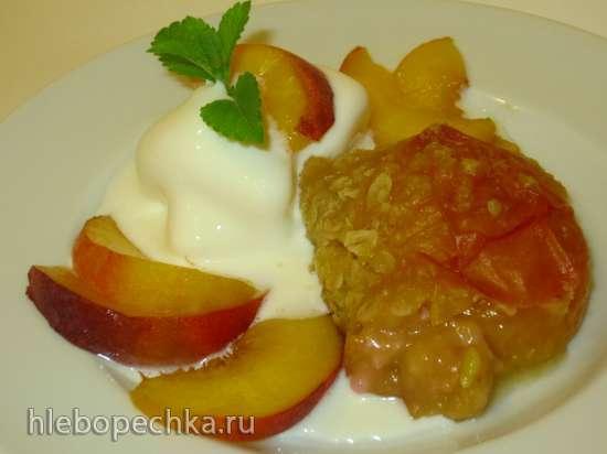 Тоффи из персиков и овсяных хлопьев (овсяная каша на вкусный лад)