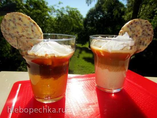 Холодное какао с яблочным или тыквенным кремом с конфетами