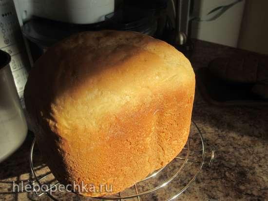 Батон с полентой или кукурузной мукой (хлебопечка)