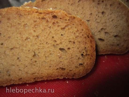 Хлеб на закваске с гречневыми хлопьями