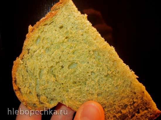 Хлеб Зеленый горошек со шпинатом и гороховой мукой