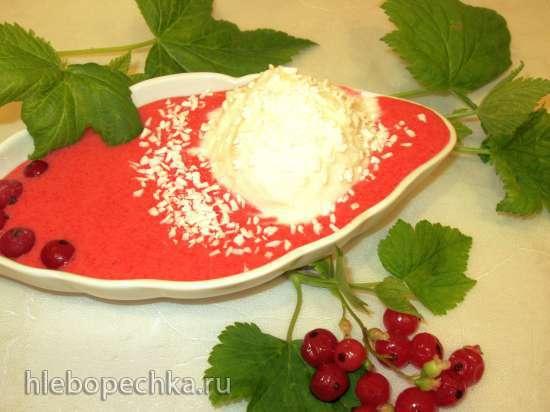 Мусс из красной смородины с мороженым Кокосовый творожок