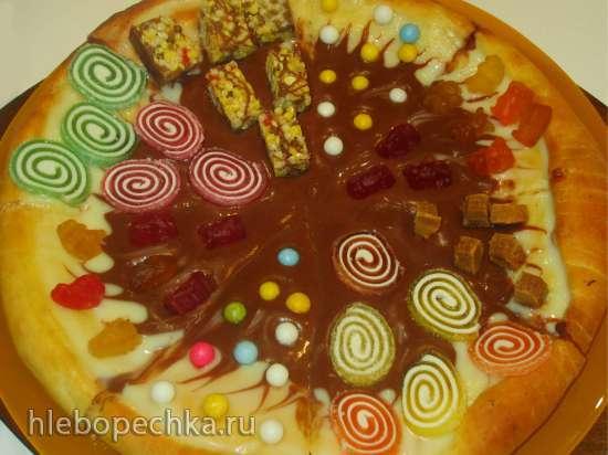 Пицца-потешка сладкая «Детская» на дрожжевом творожном тесте