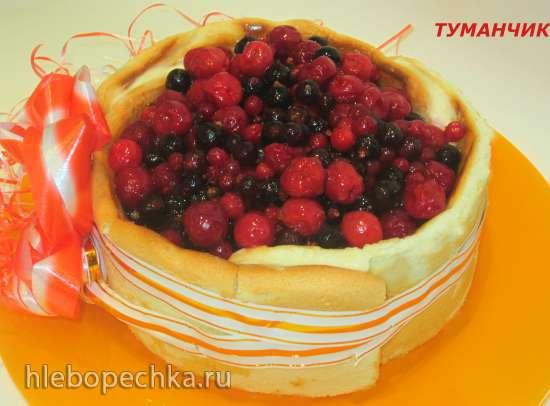 Торт «Баварезе» - ягодное лукошко (из замороженных ягод)