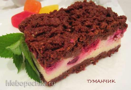 Шоколадный сметанник с ягодной или фруктовой начинкой