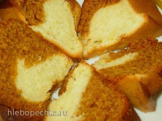 Кекс мраморный с лимоном и темной патокой (или ее заменителем)