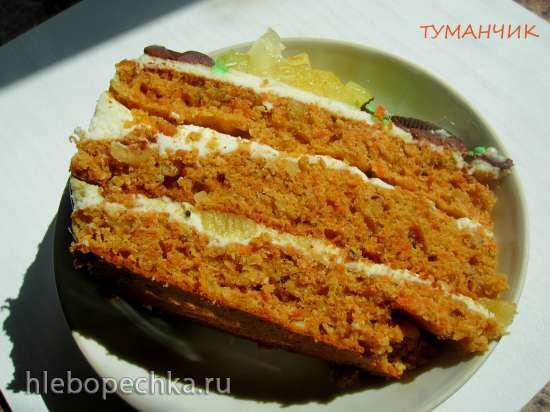Морковный торт по мотивам Аndy Сhef (в основе жмых из соковыжималки) в пиццепечке