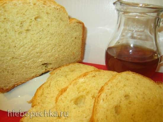 Хлеб с сыром и кукурузной мукой на заварном креме (хлебопечка)