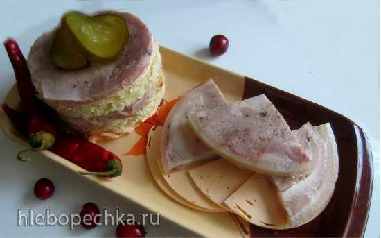 Ветчина из свинины в шкурке в ветчиннице Белобока без нитритной соли