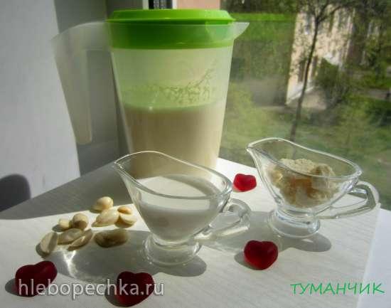 Ореховое молоко в шнековой соковыжималке Kitfort KТ-1101