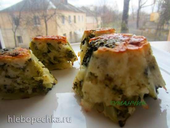 Кексы из брокколи и сыра для сытного завтрака