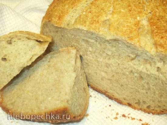 Тесто заквасочное на долгой опаре и рассоле из смесей муки с отрубями для хачапури (хлеба, рулета)