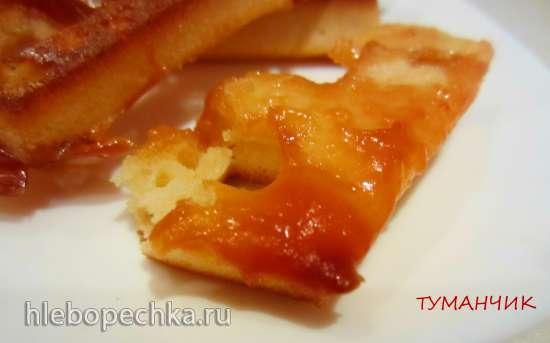 Вафли карамельные с ирисками или конфетами Коровка