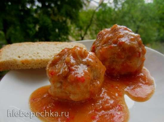 Фрикадельки в соусе из помидор