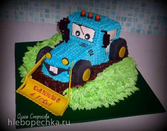 торт трактор фото крем