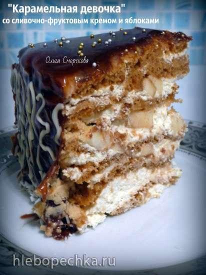 Торт «Карамельная девочка»
