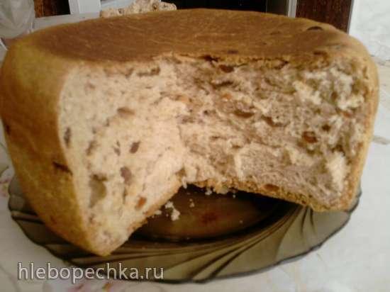 Сладкий сдобный хлеб с изюмом и корицей в мультиварке Панасоник