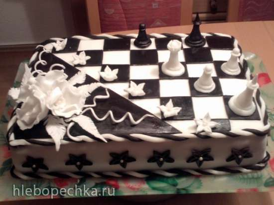Торт для любителей шахмат