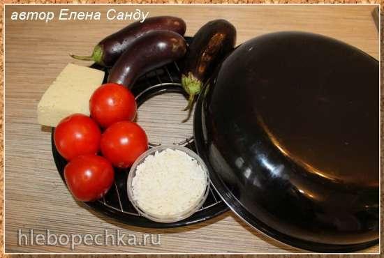 Баклажаны, запеченные с помидорами и сыром (гриль-газ)