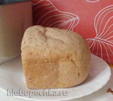 Пшенично-ржаной опарный хлеб на квасе в хлебопечке