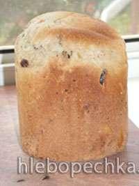 Белая булка к чаю с цукатами (Пина Колада) (хлебопечка)