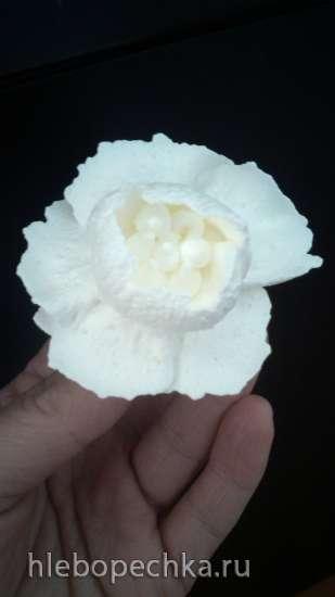 Цветы на снегу из крема (мастер-класс)