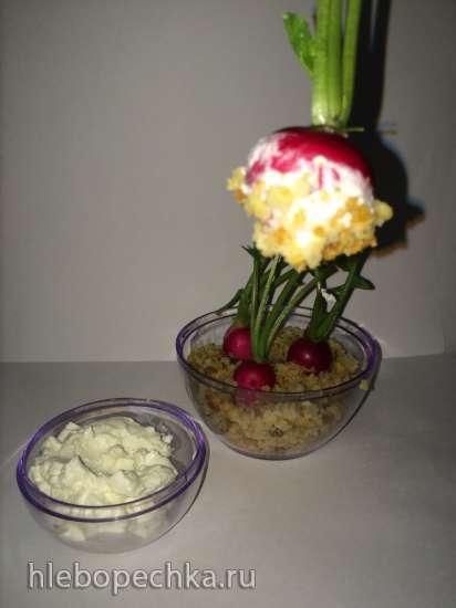 Редис с сырным кремом