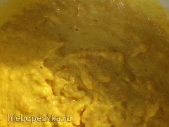 Мусс с хурмой, апельсином в ванильном соусе