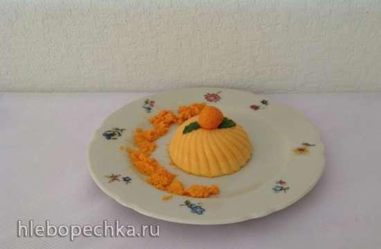 Панна-котта морковная с шафраном
