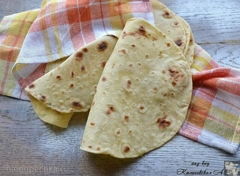 Лепешки кукурузно-пшеничные (тортильи)