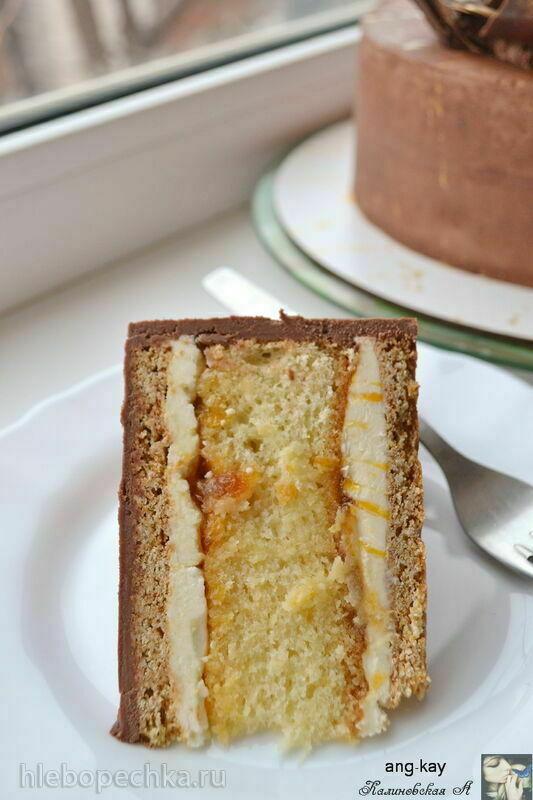 Торт с бисквитом,  песочно-медовыми коржами и джемом «Кёнигсберг» - Królewiec (+видео)