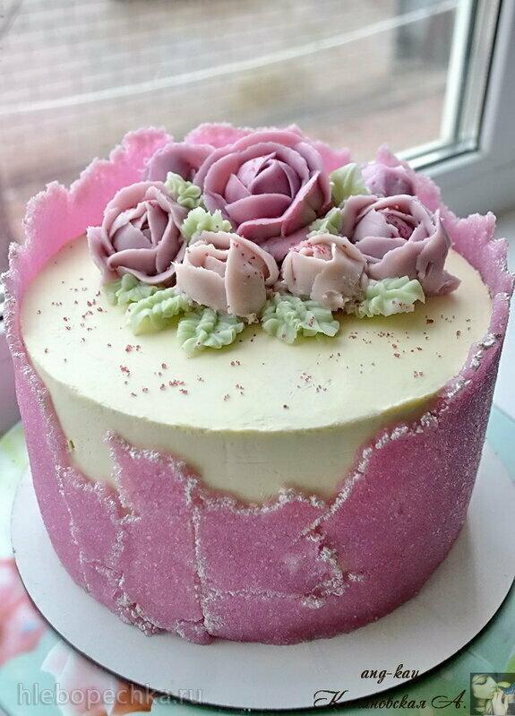 Сахарный лист - декор для торта