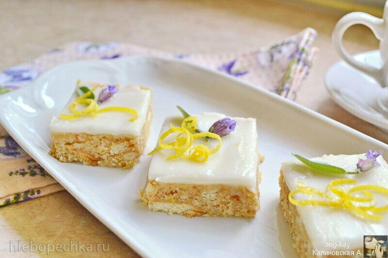 Лимонные пирожные без выпечки (+видео)